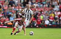 Middlesbrough's Adam Forshaw battles with West Bromwich Albion's Darren Fletcher<br /> <br /> Photographer Stephen White/CameraSport<br /> <br /> The Premier League - West Bromwich Albion v Middlesbrough - Sunday 28 August 2016 - The Hawthorns - West Bromwich<br /> <br /> World Copyright © 2016 CameraSport. All rights reserved. 43 Linden Ave. Countesthorpe. Leicester. England. LE8 5PG - Tel: +44 (0) 116 277 4147 - admin@camerasport.com - www.camerasport.com