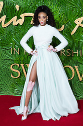 © Licensed to London News Pictures. 04/12/2017. London, UK. WINNIE HARLOW arrives for The Fashion Awards 2017 held at the Royal Albert Hall. Photo credit: Ray Tang/LNP