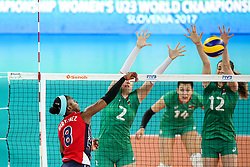 Natalia Martinez of Dominican Republic during the volleyball match between National team of Dominican Republic and Bulgaria in Bronze Medal game of Womens U23 World Championship 2017, on September 17, 2017 in SRC Stozice, Ljubljana, Slovenia. Photo by Morgan Kristan / Sportida