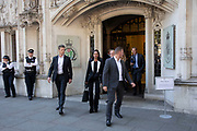 Businesswoman and campaigner Gina Miller leaves the Supreme Court after the second day of the hearing to rule on the legality of suspending or proroguing Parliament begins on September 18th 2019 in London, United Kingdom. The ruling will be made by 11 judges in the coming days to determine if the action of Prime Minister Boris Johnson to suspend parliament and his advice to do so given to the Queen was unlawful.