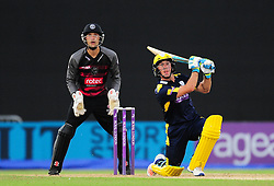 Will Smith of Hampshire hits down the ground.  - Mandatory by-line: Alex Davidson/JMP - 02/08/2016 - CRICKET - The Ageas Bowl - Southampton, United Kingdom - Hampshire v Somerset - Royal London One Day
