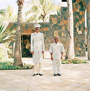 Hotel staff at The One and Only Le Touessrok, Mauritius
