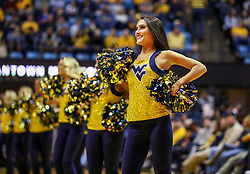 Dec 1, 2018; Morgantown, WV, USA; A West Virginia Mountaineers dancer performs during the second half against the Youngstown State Penguins at WVU Coliseum. Mandatory Credit: Ben Queen-USA TODAY Sports