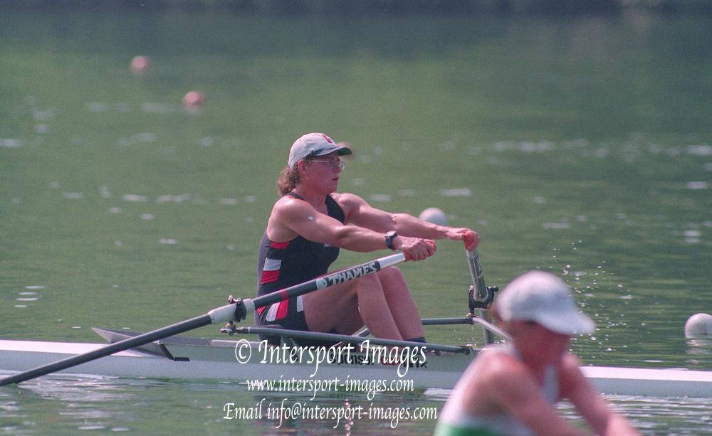 Lucerne, Switzerland. 1995 FISA WC III, Lake Rottsee, Lucerne,<br /> BR W1X. Guin BATTEN<br /> [Mandatory Credit. Peter SPURRIER/Intersport Images]<br /> <br /> Image scanned from Colour Negative