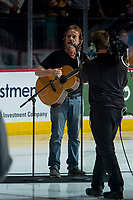 REGINA, SK - MAY 21: Jack Semple sings the national anthem at the Brandt Centre on May 21, 2018 in Regina, Canada. (Photo by Marissa Baecker/CHL Images)