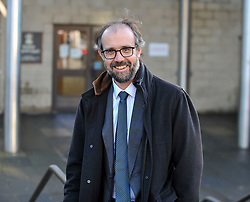 Pictured: JK Rowling's husband Neil Murray  leaves court.<br /> <br /> Author JK Rowling is suing her former PA Amanda Donaldson for damages after the Harry Potter author claimed Ms Donaldson used Ms Rowling's money to go on lavish shopping sprees, including buying two designer cats, spending more than £3600 GBP on makeup and more than £1600 GBP in coffee chain Starbucks. The case, before Sheriff Derek O'Carroll, is being heard at Airdrie Sheriff Court.<br /> <br /> (c) Dave Johnston / EEm