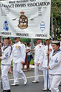 Australian Navy clearance divers from HMAS Cairns marching during ANZAC Day parade 2010. <br />