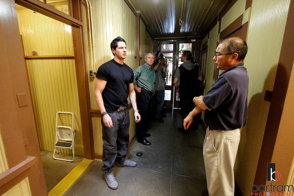 Ghost Adventures at the Winchester Mystery House in San Jose, California, August 8-9, 2011. (Photo by Kevin Bartram)  Jeff Dwyer with the Ghost Adventures crew at the Winchester Mystery House in San Jose, California, Aug. 8, 2011.