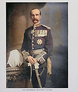Machine colored image of Sir FREDERICK DEALTRY LUGARD [ was a British soldier, mercenary, explorer of Africa and colonial administrator. He was Governor of Hong Kong (1907–1912), the last Governor of the Southern Nigeria Protectorate (1912–1914), the first High Commissioner (1900–1906) and last Governor (1912–1914) of the Northern Nigeria Protectorate and the first Governor-General of Nigeria (1914–1919)]. From the Book '  Britain across the seas : Africa : a history and description of the British Empire in Africa ' by Johnston, Harry Hamilton, Sir, 1858-1927 Published in 1910 in London by National Society's Depository