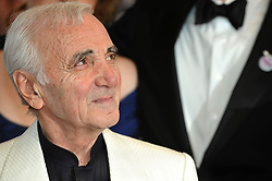 Charles Aznavour arriving to the screening of the animation movie 'UP' opening the 62nd Cannes Film Festival and the screening of animation movie 'UP' at the Palais des Festivals in Cannes, France on May 13, 2009. Photo by Nebinger-Orban/ABACAPRESS.COM