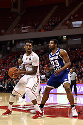 22 December 2015: Nick Banyard(0) defended by Wayne Martin(33).  Illinois State Redbirds host the Tennessee State Tigers at Redbird Arena in Normal Illinois (Photo by Alan Look)