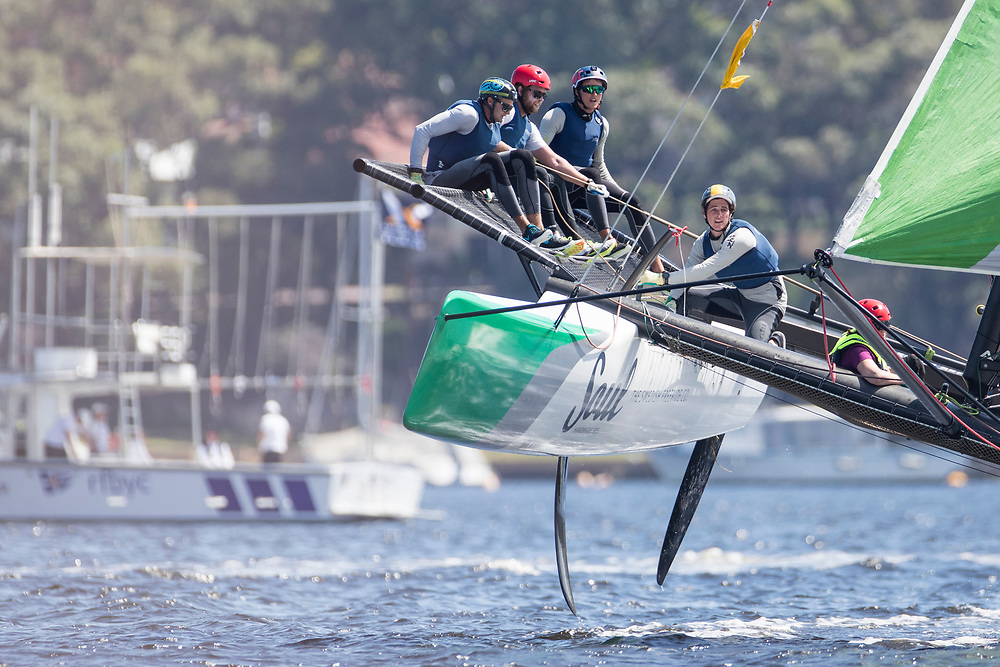 WMRT Match Cup Australia, Royal Freshwater Bay, Perth, WA. 24th March 2017. Dave Gilmour (third from left) winner of the quarter final against Taylor Canfield, US One.