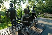 Beatles monument, Almaty, Kazakhstan