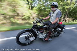 Vern Acres of CAN on his 1914 Henderson during the Motorcycle Cannonball Race of the Century. Stage-2 from York, PA to Morgantown, WV. USA. Sunday September 11, 2016. Photography ©2016 Michael Lichter.