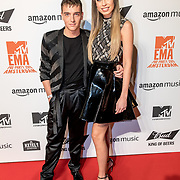 NLD/Amsterdam/20191028 - MTV Pre Party in Amsterdam, Robbert Rodenburg and Loiza Lamers