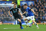 Darren Fletcher of West Bromwich Albion and Gareth Barry of Everton in action. Premier league match, Everton v West Bromwich Albion at Goodison Park in Liverpool, Merseyside on Saturday 11th March 2017.<br /> pic by Chris Stading, Andrew Orchard sports photography.