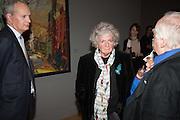 HUW MONK; MAGGI HAMBLING, Frank Auerbach openeing, Tate Britain. London.. 8 October 2015
