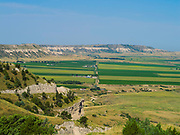 Vista of the western Nebraska prairie in the morning, near Scottsbluff, Nebraska.