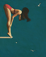 """When a girl wears a bikini on the diving board in the 60s, this was considered to be sexy. In fact, surfing was considered to be such a wild and sensuous sport that it was referred to as """"surfing the waves."""" The bold and adventurous attitude of the surfers was often epitomized by a girl wearing a bikini on the diving board. The fifties-style girl wore clothing that showed her personality and sense of sex appeal. She was bold enough to rock a fifties-style skirt with a very revealing top.<br /> <br /> It is evident that the fifties-style woman put more effort into her appearance than the modern day surfer. She desired to draw attention to her features while at the same time creating a more daring look. Just as the fifties style of dress meant that the woman was not afraid to draw attention to her best assets, the same can be said for the bikini. Although many of today's woman wear bikinis, they are often covered by clothing to keep them comfortable at the beach or pool side.<br /> <br /> The fifties style was all about showing off what you had, while at the same time being in complete control of your sexuality. Today, many women have adopted these fashions from the past. They use the clothing to create an edgy, yet sexy look, which works well for many different types of people. Whether you are wearing jeans and sneakers, or a beautiful dress, wearing a bikini is a great way to let the world know that you are confident and fun, while at the same time letting it know that you belong on the great surfing team."""