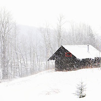 New England winter scenery of a hut during an active snowstorm at the Savoy Mountain State Park in the Berkshires of Western Massachusetts.<br /> <br /> Massachusetts winter photography images are available as museum quality photo, canvas, acrylic, wood or metal prints. Wall art prints may be framed and matted to the individual liking and interior design decoration needs:<br /> <br /> https://juergen-roth.pixels.com/featured/winter-scenery-at-savoy-mountain-state-park-juergen-roth.html<br /> <br /> Good light and happy photo making!<br /> <br /> My best,<br /> <br /> Juergen<br /> Photo Prints & Licensing: http://www.rothgalleries.com<br /> Photo Blog: http://whereintheworldisjuergen.blogspot.com<br /> Instagram: https://www.instagram.com/rothgalleries<br /> Twitter: https://twitter.com/naturefineart<br /> https://www.facebook.com/naturefineart
