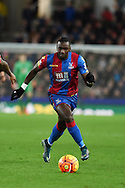 Yannick Bolasie of Crystal Palace in action. Barclays Premier league match, Stoke city v Crystal Palace at the Britannia Stadium in Stoke on Trent, Staffs on Saturday 19th December 2015.<br /> pic by Andrew Orchard, Andrew Orchard sports photography.
