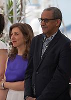 Director Joana Hadjithomas, director Abderrahmane Sissako, at the Jury De La Cinefondation Et Des Courts Metrages  film photo call at the 68th Cannes Film Festival Thursday May 21st 2015, Cannes, France.