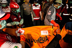 November 2, 2018 - North Jakarta, Jakarta, Indonesia - Additional victims and fuselage of the Lion Air Plane Crash arrived at Tanjung Priok Harbour by Indonesian Search and Rescue team. A total of eight more victims from the plane crash arrived at Tanjung Priok Harbour. (Credit Image: © Donal Husni/ZUMA Wire)