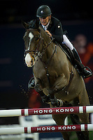 Roger Yves Bost on Record d'Oreal competes during Longines Speed Challenge at the Longines Masters of Hong Kong on 20 February 2016 at the Asia World Expo in Hong Kong, China. Photo by Juan Manuel Serrano / Power Sport Images