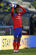 Blackburn Rovers defender Ryan Nyambe (2) takes the throw in during the EFL Sky Bet Championship match between Huddersfield Town and Blackburn Rovers at the John Smiths Stadium, Huddersfield, England on 29 December 2020.
