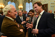 © Licensed to London News Pictures. 11/09/2012. London, UK L-R Simon Callow, Nick Clegg. Nick Clegg makes a speech at a reception to celebrate the Governments Consultation on Gay Marriage. Today, 11 September 2012. Photo credit : Stephen Simpson/LNP
