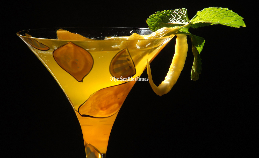 """The """"Snap Dragon"""" is one of many cocktails available at Amber, a new bar located in Belltown. (Erika Schultz / The Seattle Times)"""