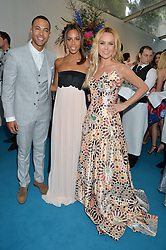 Left to right, MARVIN HUMES, ROCHELLE HUMES and AMANDA HOLDEN at the Glamour Women of The Year Awards held in Berkeley Square, London on 2nd June 2015.