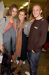 Left to right, ALEXIA NIEDZIELSKI, FRANCESCA VERSACE and ALEXANDER FLICK at an opening party for artist Paul McCarthy's exhibition 'LaLa Land Parody Paradise' held at the Whitechapel Gallery, 80-82 Whitechapel High Street, London E1 on 22nd October 2005.<br /><br />NON EXCLUSIVE - WORLD RIGHTS