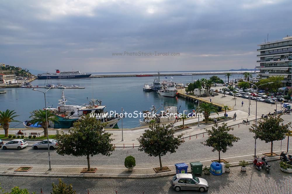 Kavala Harbor pier, East Macedonia, Greece