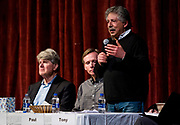 Madison Mayor Paul Soglin speaks during the public forum for Democratic gubernatorial candidates at LaFollete High School in Monona, Wisconsin, Sunday, Jan. 28, 2018.