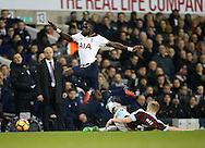 Tottenham's Moussa Sissoko goes past Burnley's Ben Mee during the Premier League match at White Hart Lane Stadium, London. Picture date December 18th, 2016 Pic David Klein/Sportimage
