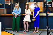 EINDHOVEN, 27-04-2021, High Tech Campus<br /> <br /> Prinses Amalia, Prinses Alexia en Prinses Ariane tijdens Koningsdag 2021 op de High Tech Campus in Eindhoven Foto: Brunopress/POOL/Mischa Schoemaker<br /> <br /> Princess Amalia, Princess Alexia and Princess Ariane during King's Day 2021 at Eindhoven