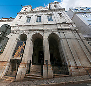The 16th century Church of Santa Catarina (Rebuilt in 1757) in Largo do Calhariz, Lisbon, Portugal