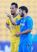 Getafe CF's Dani Pacheco (r) and AD Alcorcon's Foued Kadir during friendly match. August 9,2017. (ALTERPHOTOS/Acero)