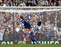 Photo: Olly Greenwood.<br />West Ham United v Reading. The Barclays Premiership. 01/10/2006. Reading's Steve Sidwell heads off his own line
