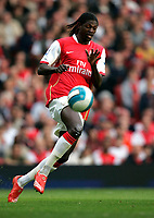 Photo: Tom Dulat.<br /> Arsenal v Bolton Wanderers. The FA Barclays Premiership. 20/10/2007.<br /> Emmanuel Adebayor of Arsenal with the ball.