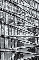Building facade along the High Line Park in New York City