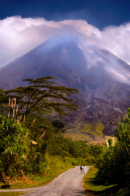 Tourists Enter The Arenal Volcano National Park In Costa Rica.