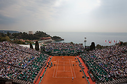 16.04.2010, Country Club, Monte Carlo, MCO, ATP, Monte Carlo Masters, im Bild A general view during a quarter final match at the ATP Monte Carlo Masters tennis tournament, EXPA Pictures © 2010, PhotoCredit: EXPA/ M. Gunn / SPORTIDA PHOTO AGENCY