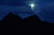 Moonrise, Mt. Olomana, Kailua, Oahu, hawaii<br />