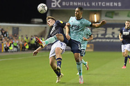 Millwall midfielder Ben Thompson  (8)  and Leicester City Midfielder Youri Tielemans (8) battles for possession during the EFL Cup match between Millwall and Leicester City at The Den, London, England on 22 September 2021.