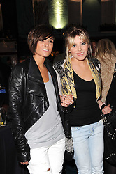 Left to right, FRANKIE SANDFORD and MOLLIE KING from The Saturdays at the Lee store re-launch party held at 13-14 Carnaby Street, London on 31st March 2010. MOLLIE KING