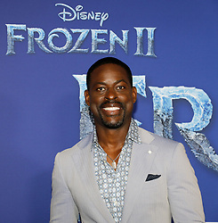 Sterling K. Brown at the World premiere of Disney's 'Frozen 2' held at the Dolby Theatre in Hollywood, USA on November 7, 2019.