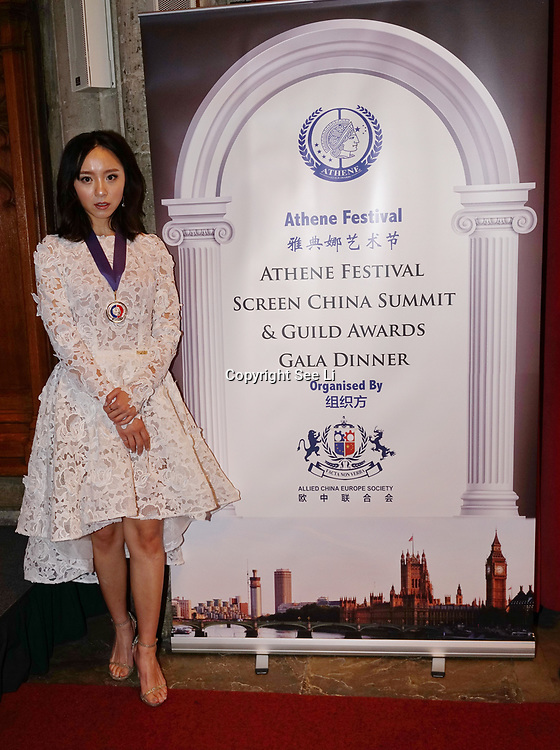 London,England,UK. 31th March 2017: Lui Jing Award the Master of the Art of Acting at the Athene Festival 2017 at Guildhall,London,UK. by See Li