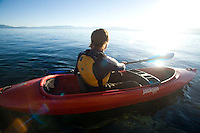 Kayaking near DL Bliss State Park on Lake Tahoe, CA.
